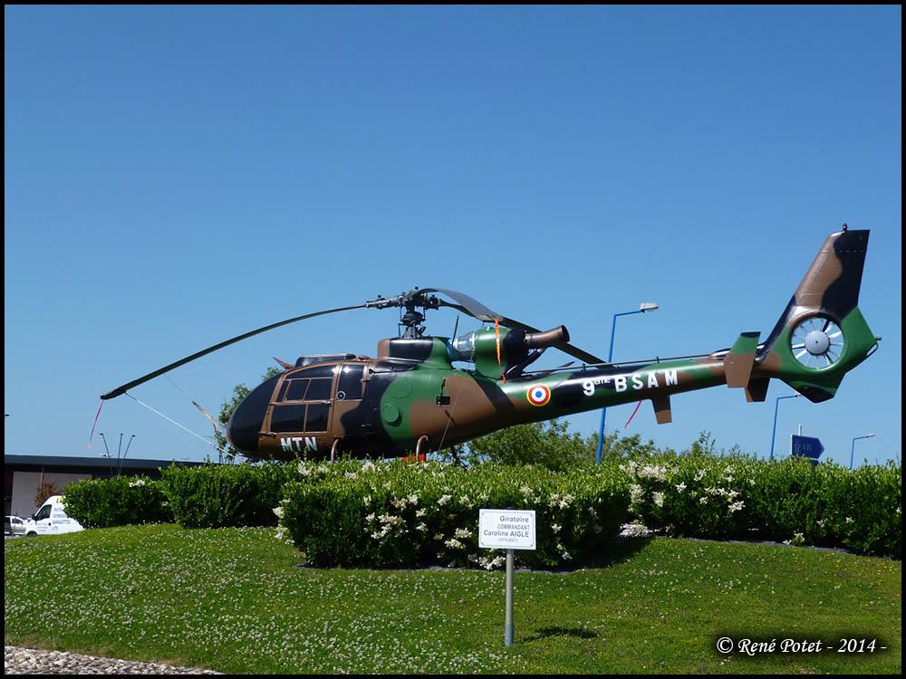 Sud aviation sa 341 f gazelle n 1629 montauban 82 pfa - Point p montauban ...